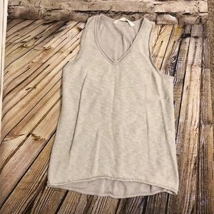 Athleta Knitted Tank Top Size M Gray